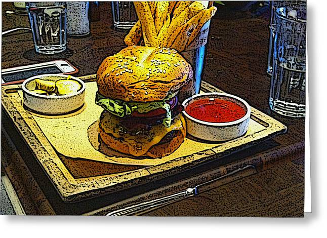 Cali Burger With Fries Greeting Card
