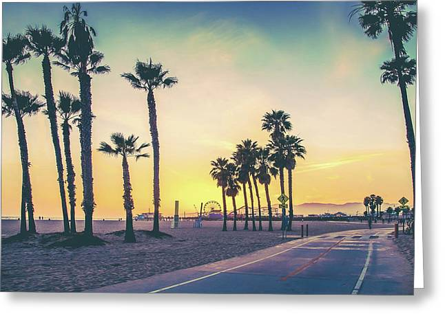 Cali Sunset Greeting Card by Az Jackson