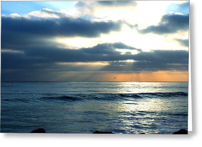 Cali Sunset Greeting Card
