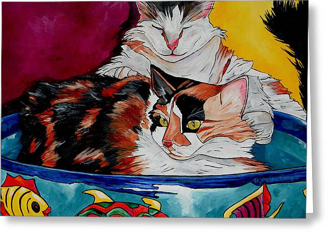 Calico And Et Greeting Card by Patti Schermerhorn