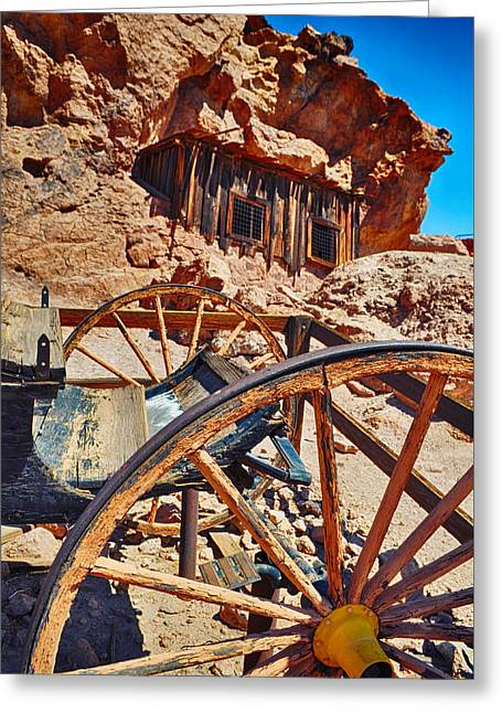 Calico Ghost Town Mine Greeting Card