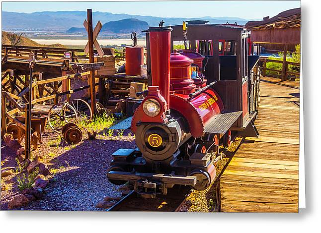 Calico Ghost Town Train Greeting Card by Garry Gay