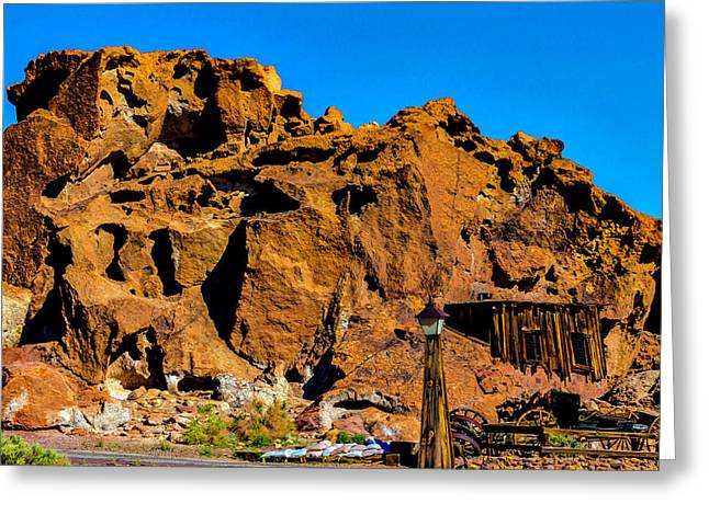 Calico Miners Shack Greeting Card by Garry Gay