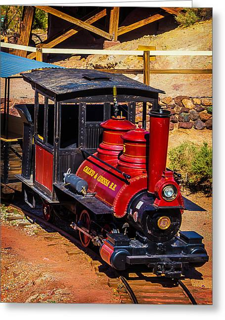 Calico Odessa Number 5 Train Greeting Card