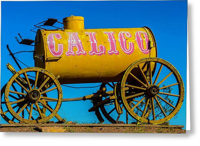 Calico Water Wagon Greeting Card by Garry Gay