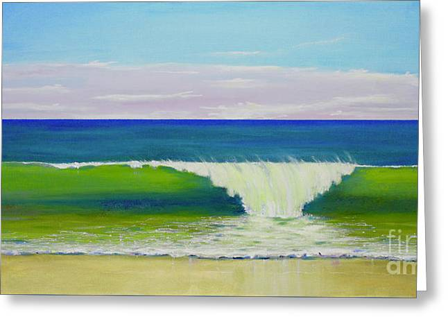 Greeting Card featuring the painting Califia Beach by Mary Scott