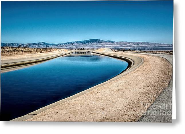 California Aqueduct At Fairmont Greeting Card