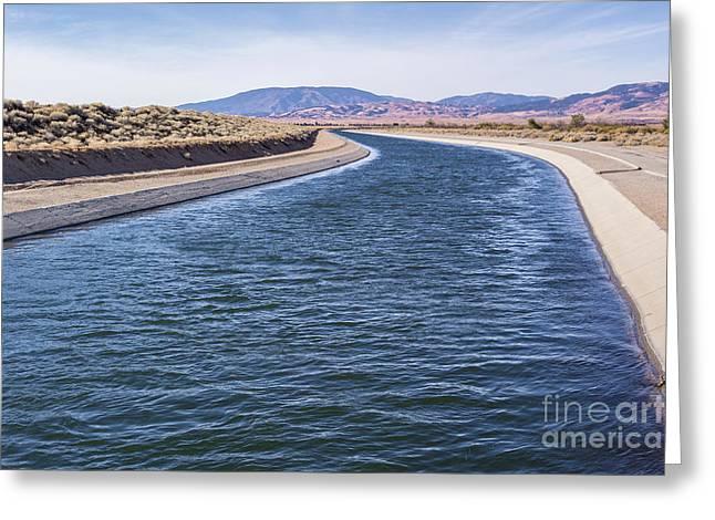 California Aqueduct S Curves Greeting Card