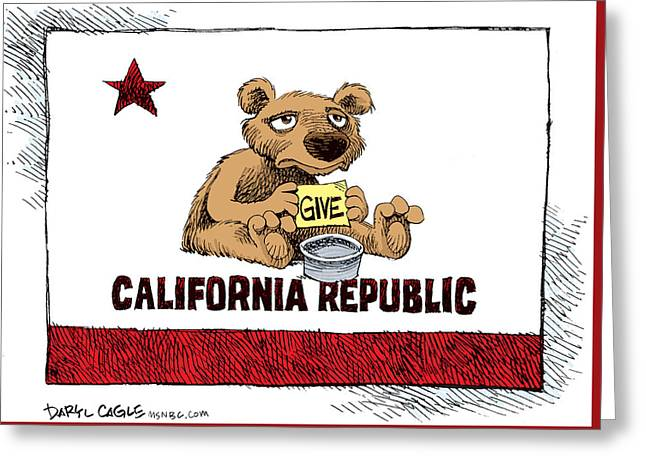 California Budget Begging Greeting Card