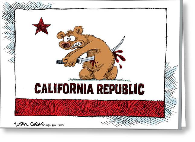 California Budget Harakiri Greeting Card