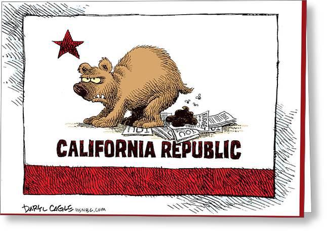 California Budget Iou Greeting Card