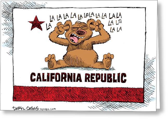 California Budget La La La Greeting Card