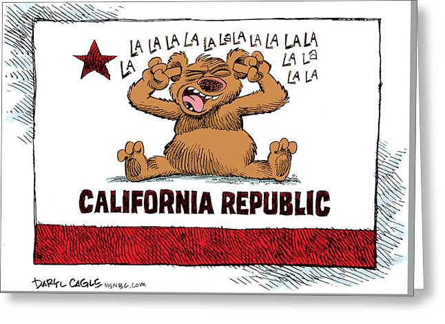 California Budget La La La Greeting Card