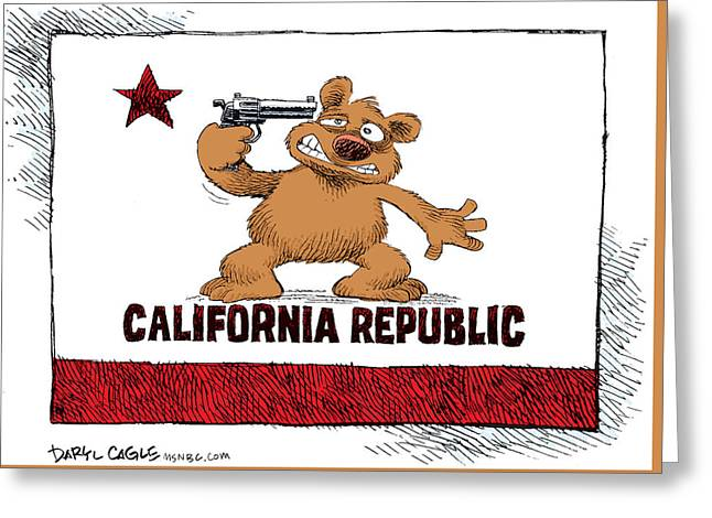 California Budget Suicide Greeting Card