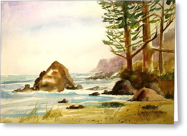 California Coast Greeting Card by Larry Hamilton