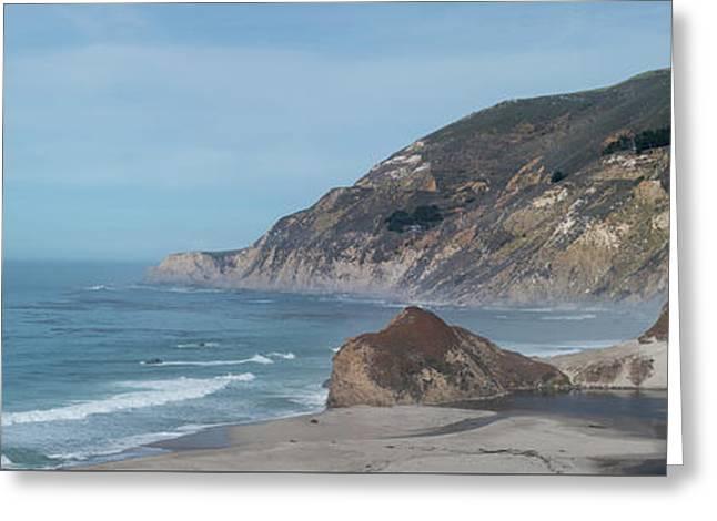 California Coast Panorama Greeting Card
