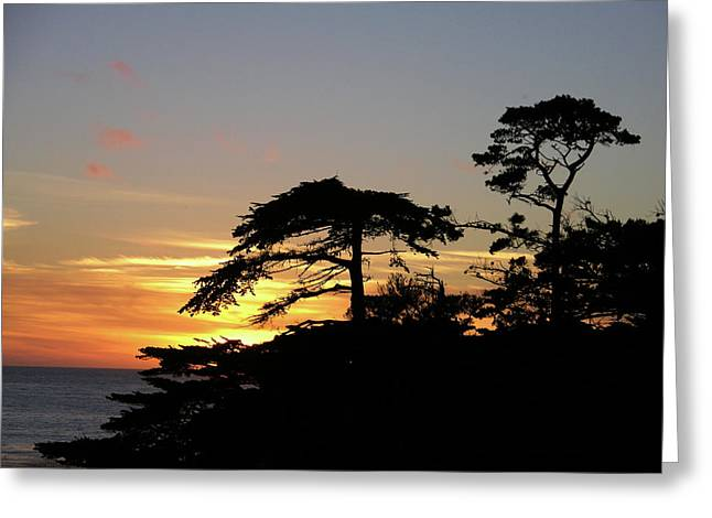 California Coastal Sunset Greeting Card