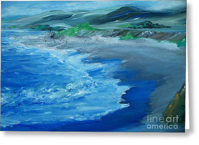 California Coastline Impressionism Greeting Card by Eric  Schiabor