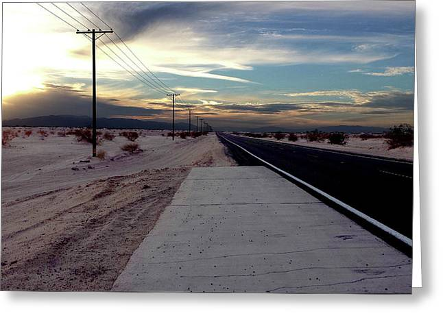 California Desert Highway Greeting Card