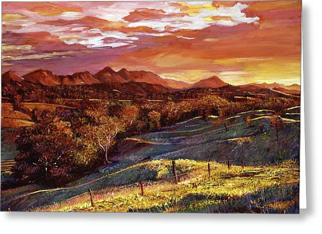 California Dreaming Greeting Card by David Lloyd Glover