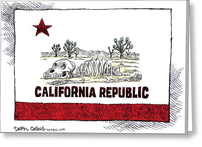 California Drought Greeting Card