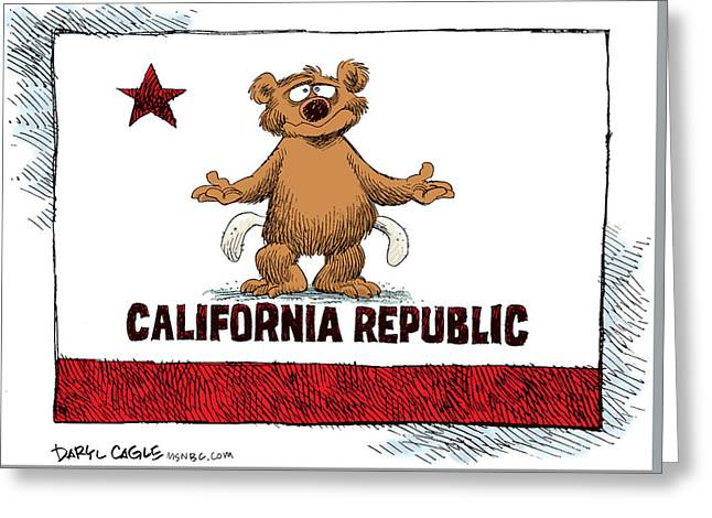 California Empty Pockets Greeting Card