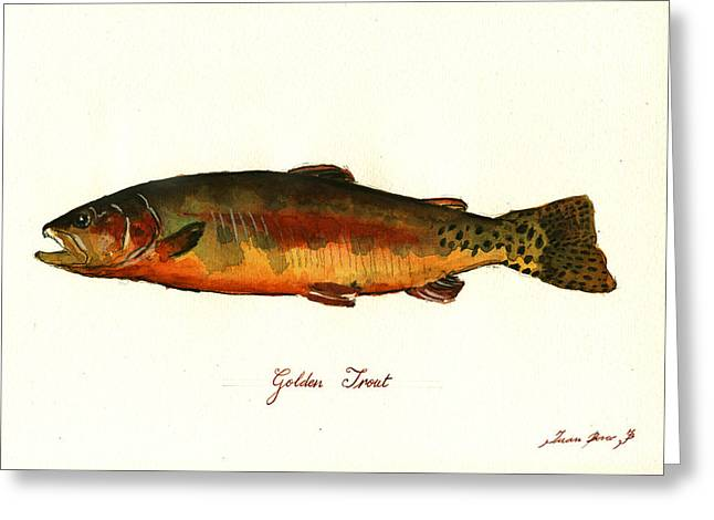 California Golden Trout Fish Greeting Card