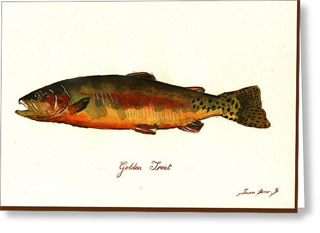 California golden trout fish painting by juan bosco for Golden trout fishing