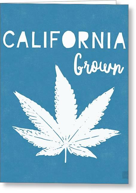 California Grown Cannabis- Art By Linda Woods Greeting Card