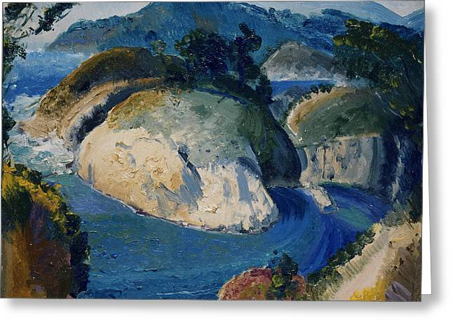 California Headlands Greeting Card by George Bellows