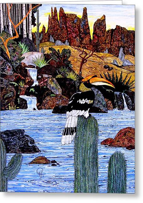 California Hornbill Greeting Card by Doug Hiser