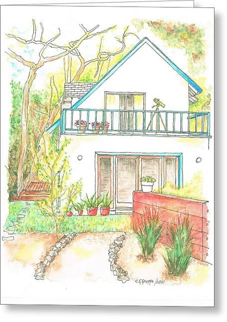 California House Greeting Card by Carlos G Groppa