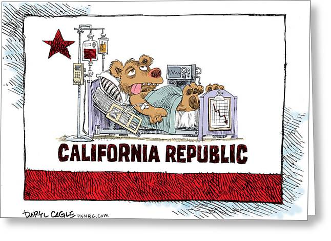 California Is Sick Greeting Card
