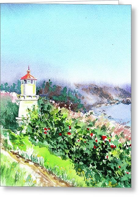 California Lighthouse Trinidad Pacific Ocean Greeting Card
