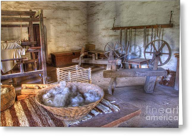 California Mission La Purisima Weavers Studio Greeting Card