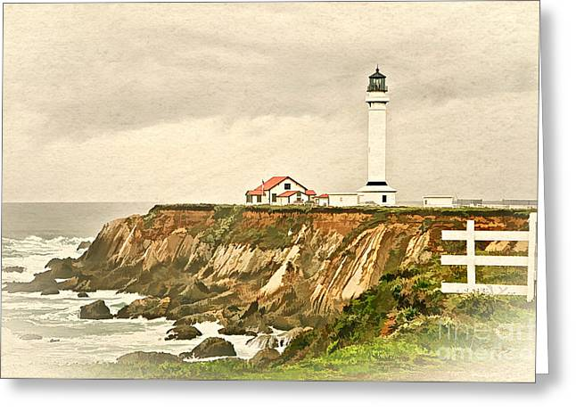 California - Point Arena Lighthouse Greeting Card