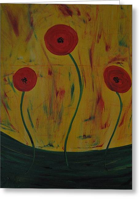 Abstract California Poppies Greeting Cards - California Poppies Greeting Card by Dara Morgan