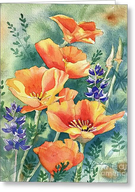 California Poppies In Bloom Greeting Card