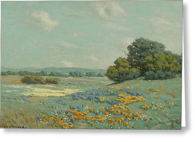 California Poppy Field Greeting Card by Granville Redmond