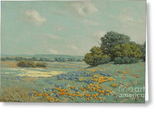 California Poppy Field Greeting Card