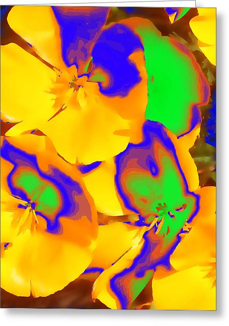 Californian Greeting Cards - California Poppy in Quatt Greeting Card by Stu Thompson