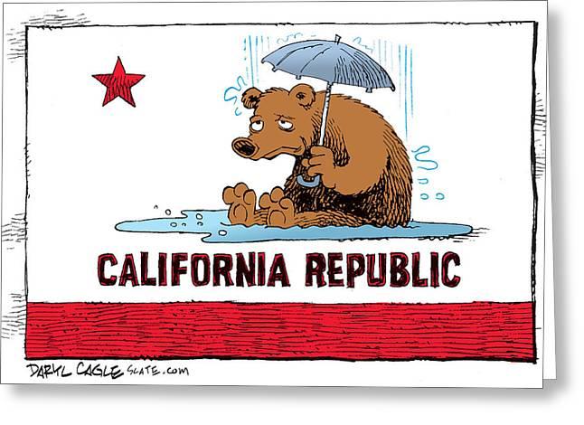 California Rain Greeting Card