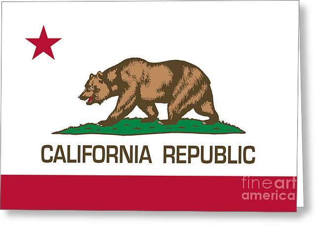 California Republic State Flag Authentic Version Greeting Card