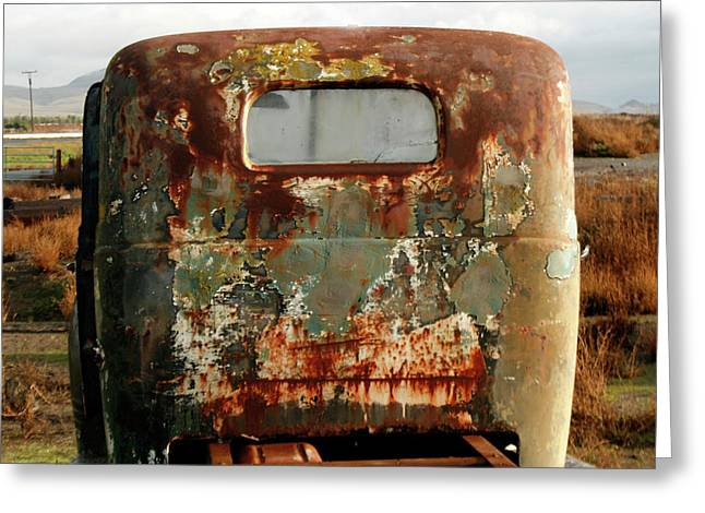 California Rusted Truck Greeting Card