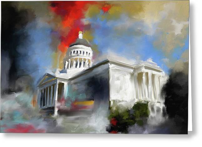 California State Capitol Building 556 1 Greeting Card