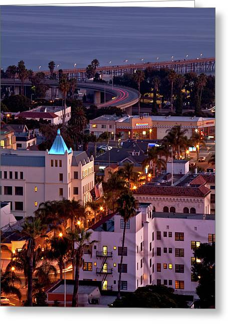California Street At Ventura California Greeting Card