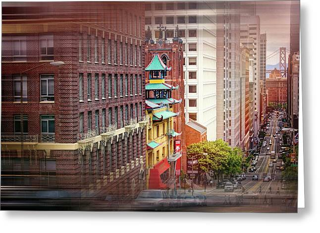 California Street San Francisco  Greeting Card