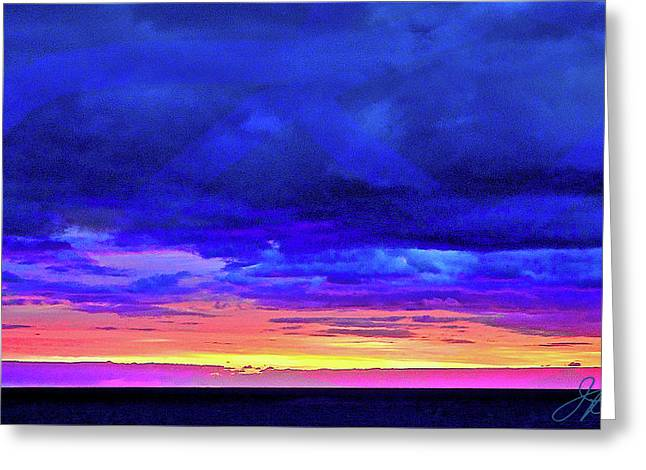 Greeting Card featuring the painting California Sunrise by Joan Reese