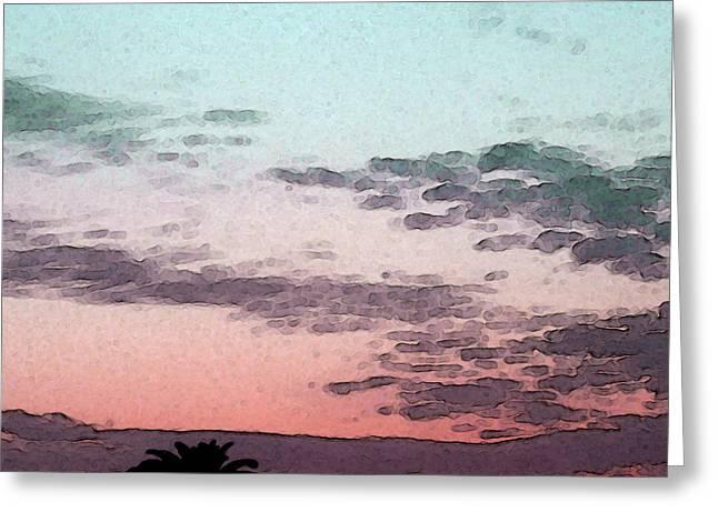 California Sunset - 1 Greeting Card by Sally Stevens