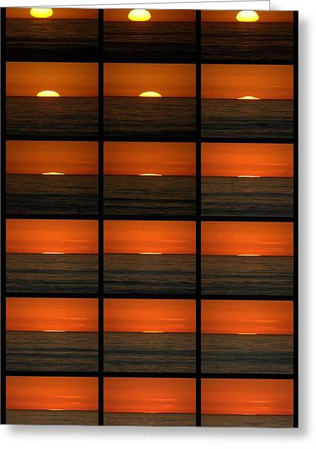 California Sunset Greeting Card by Brad Scott